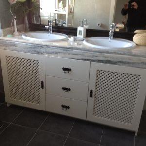 Mueble bajo lavabo lacado blanco